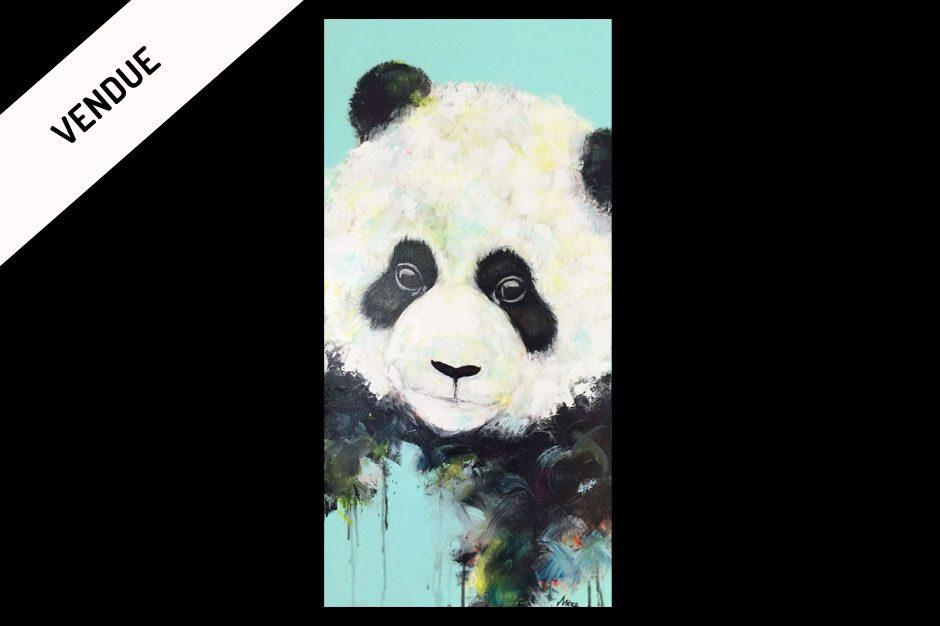 peinture semi figuratif d 39 un panda artiste peintre m ro. Black Bedroom Furniture Sets. Home Design Ideas