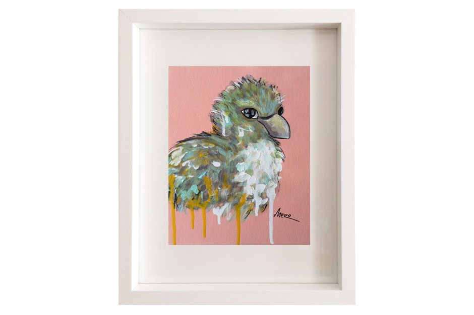 Artiste peintre Mëro-oiseau-le chanteur